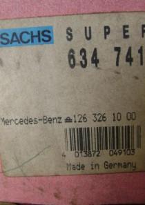 634741 original Sachs Advantage Gasdruckstoßdämpfer, oben Stift, unten Brücke  Mercedes-Benz (W114, W115, C123, W116, W126, C126, R107, C107, W123) div. Modelle