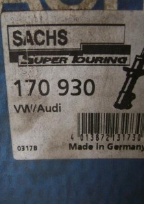 170930 original Sachs SuperTouring Öldruckstoßdämpfer, Kenngröße SXOV26X190A, oben Stift unten Auge,  VW Passat (3A2, 35I) Passat Variant (3A5, 35I)