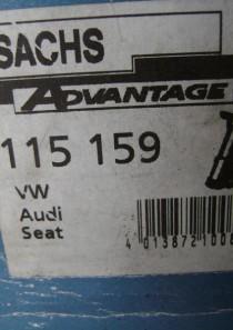 115159 Sachs Advantage Gasdruck Stoßdämpfer, Stoßdämpfer-Bauart:Federbein Stoßdämpfer-System:Zweirohr,  verstärkte Ausführung Kenngröße: SFE30/20X177A  Seat Cordoba (6K1, 6K2), Ibiza II, Toledo 1 VW Golf II, III, Jetta II, Vento