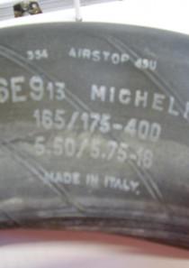 Schlauchset bestehend aus 3x Michelin 165/175-400, 5.50/5.75-16 und 1x Uniroyal 165 R 15, 5.90-15/6.00-15 für Oldtimer, neuwertig aber gebraucht, ohne Garantie, im Set zu 4 Stück