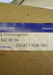 A1245420004 ,  Original Mercedes-Benz Vorratsgeber, VDO Sensor Kraftstoffvorrat W124, Tankfüllstandsanzeiger, Tankgeber