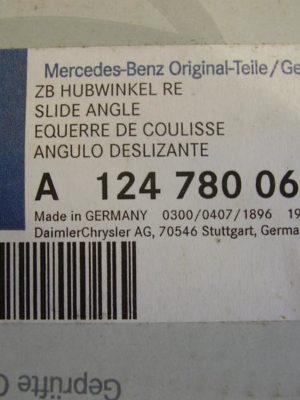 A1247800612 , Original Mercedes-Benz ZB HUBWINKEL RE Höhe: 18cm, Länge: 5.5cm, Breite: 39cm