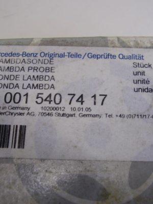 A0015407417 Lambdasonde Mercedes, gebraucht, funktionstüchtig, in Originalverpackung