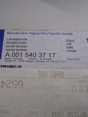A0015403717 Lambdasonde original Mercedes, in Originalverpackung, funktionstüchtig