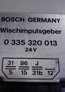 0335320013 Bosch Wischimpulsgeber, Relais für Intervallschaltung, 24V, kostenloser Versand
