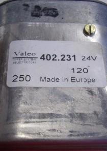 402231  402.231 Wischmotor, Scheibenwischmotor, Getriebemotor (mit Schalter), Valeo, 24V