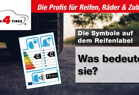 Die Symbole auf dem Reifenlabel – Was bedeuten sie?